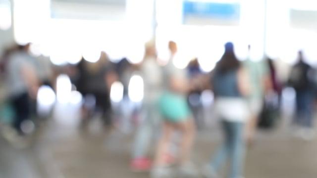 Blurry Walking Peoples